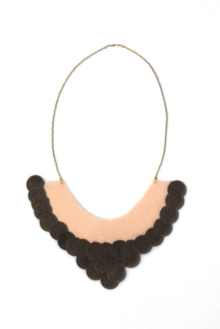 Pale Pink Coin Necklace