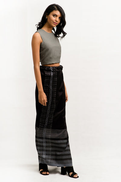 Linen Crop Top - Fashion Market.LK