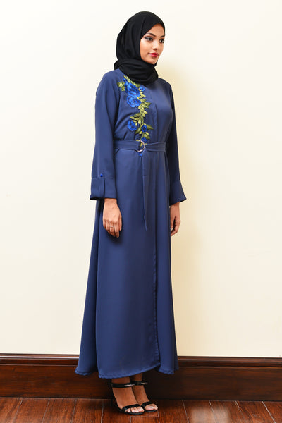Kaftan With Floral Appliqué - Immediate Shipping - Order Now