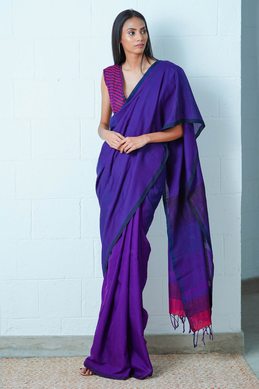 Urban Drape Plum Gleam Saree
