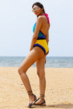 Rum Punch Halter Neck One Piece With Removable Cups