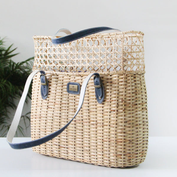 Cane tote bag - Fashion Market.LK