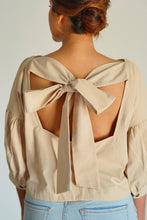 Load image into Gallery viewer, MENDES CEYLON - Beige Alice Crop Top