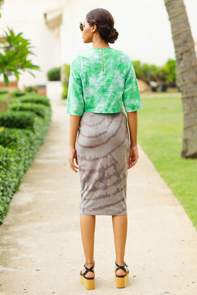 Tie Bleach Jersey Skirt