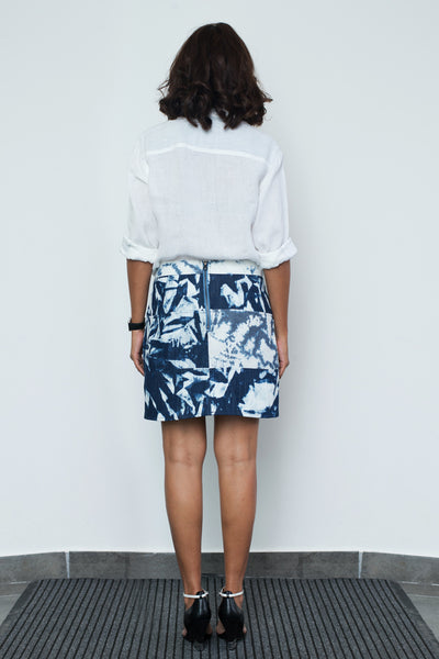 Patchwork Mini Skirt