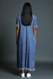 H-D Denim Maxi dress with V back -