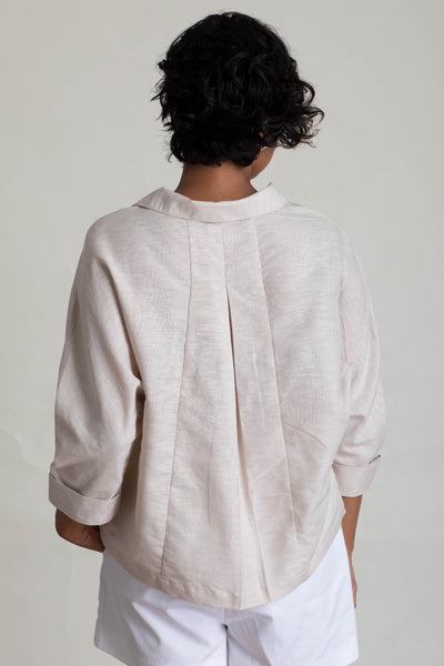 Dolman Sleeve Handloom Panelled Top