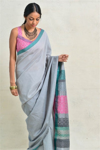 Urban Drape Forest Shadow Saree