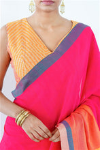 Load image into Gallery viewer, Urban Drape Pink Tulip Hand Woven Saree