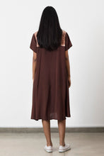 Load image into Gallery viewer, Brown Flared Shirt Dress - Fashion Market.LK