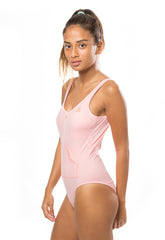 SOLID SPORTY ONE PIECE - STARLET PINK