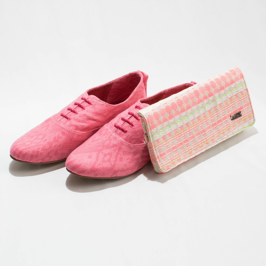 Pink lace up - Fashion Market.LK
