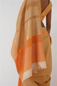 Urban Drape Golden Coral Saree