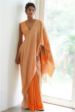 Load image into Gallery viewer, Urban Drape Golden Coral Saree