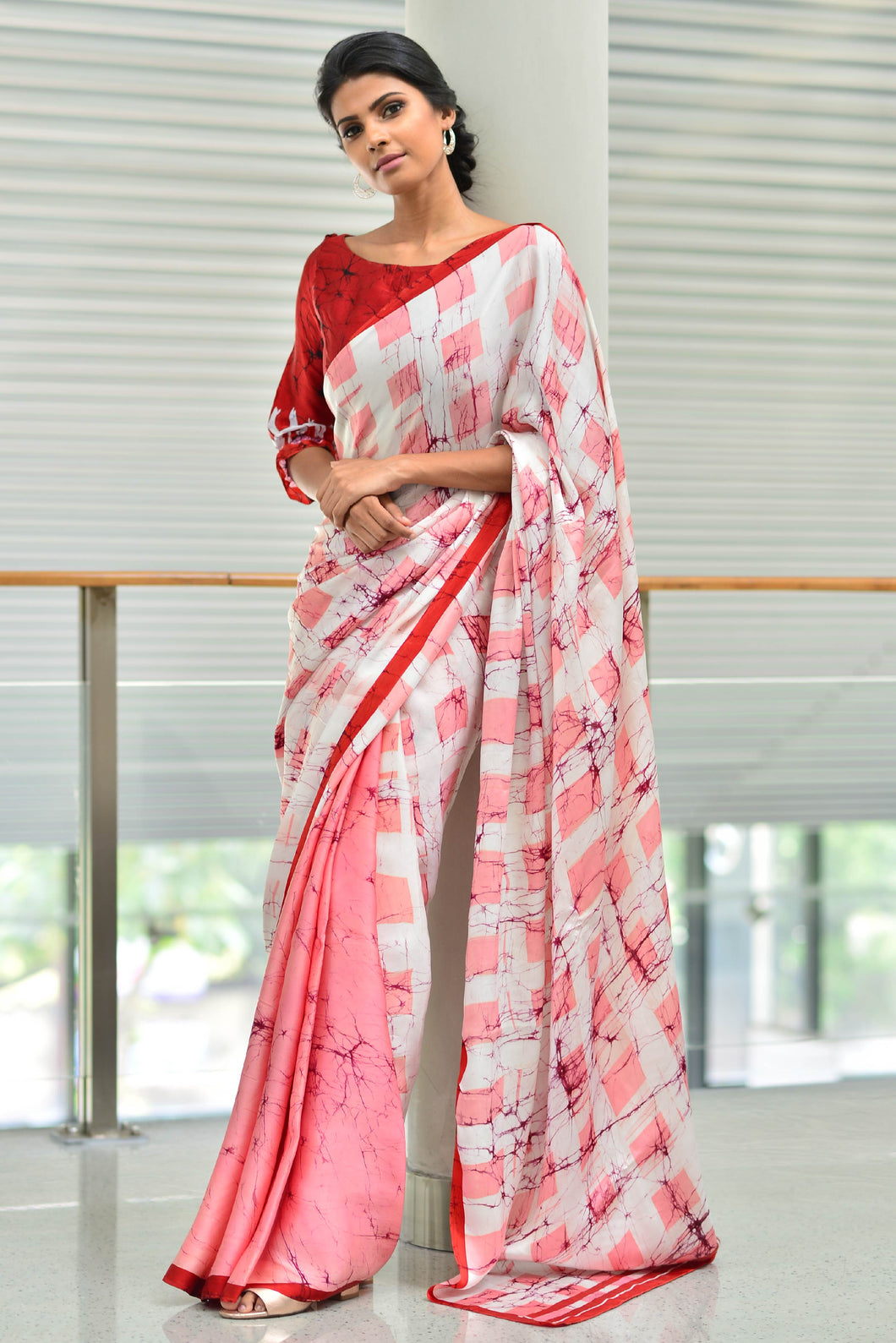 Urban Drape Mauve Ray Saree