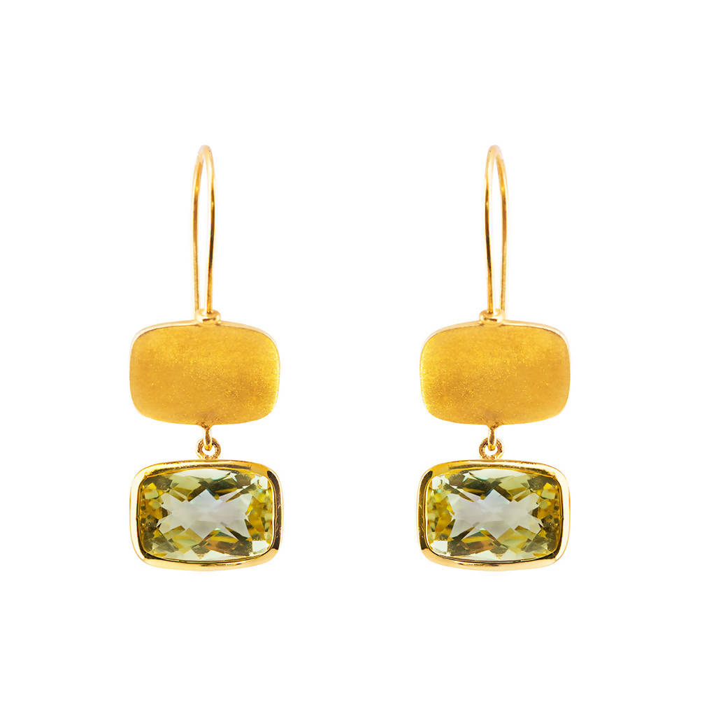 Ira-Lemon Quartz Drop Earrings