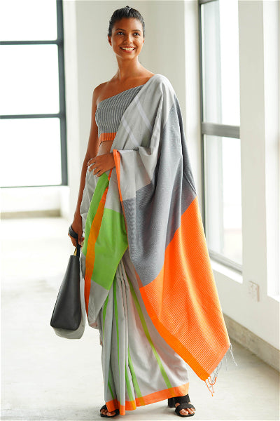 Urban Drape Coded Colour Saree