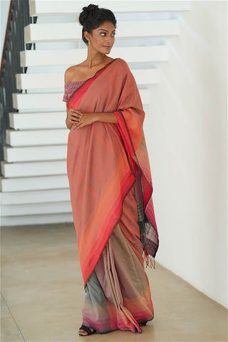 Urban Drape Dove Gray Mist Saree