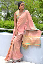 Load image into Gallery viewer, Urban Drape Mint Floss Saree