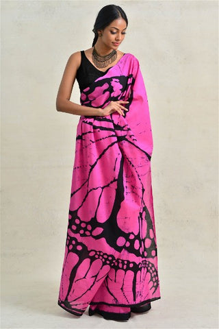 Urban Drape Pink Butterfly Saree