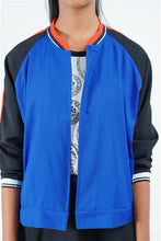 Load image into Gallery viewer, Serendib Coin Collector Open Bomber Jacket (Blue)