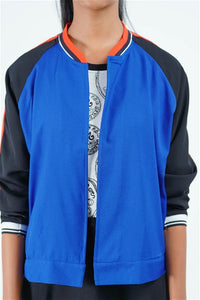 Serendib Coin Collector Open Bomber Jacket (Blue)