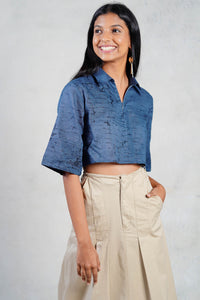 Grey Batik Crop top