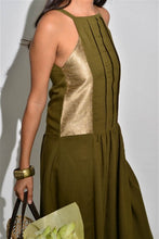Load image into Gallery viewer, A Line Sleeveless Moss Dress