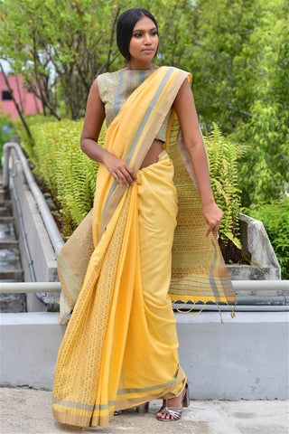 Urban Drape Sunrise Punch Saree
