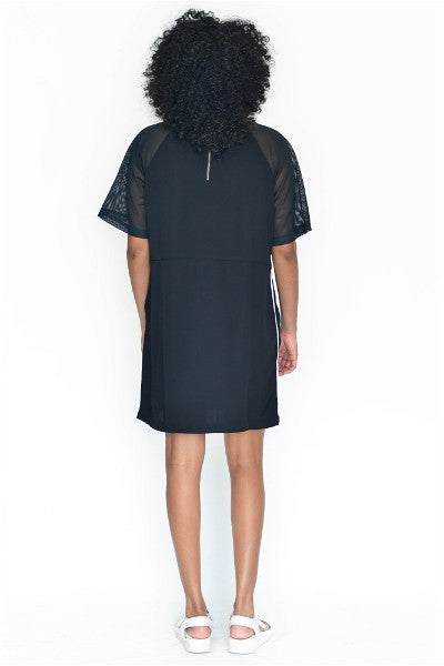 Femme Mesh Panel Shift Dress