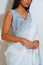 Load image into Gallery viewer, Urban Drape Icy White Saree