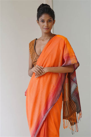Urban Drape Star Coral Saree