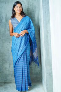 Urban Drape Vintage Denim Saree