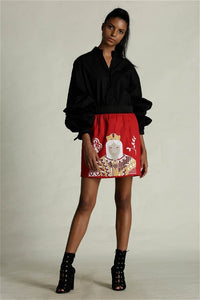 Queen Of Clubs Mini Skirt