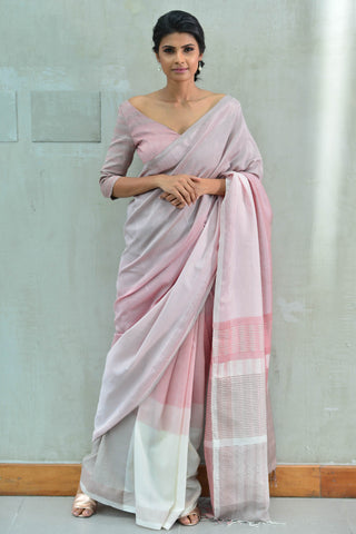 Urban Drape Taupe Rose Saree