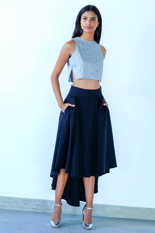 Metalic Ray Crop Top