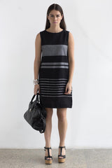Shift Dress- black & grey