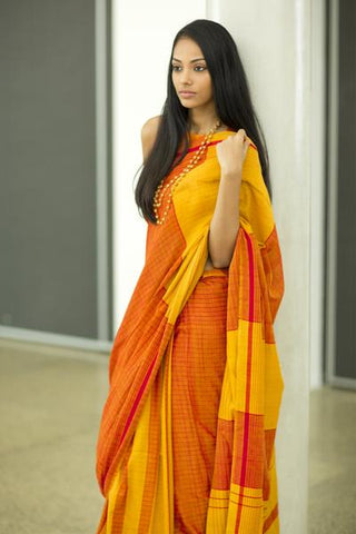 Urban Drape White Sand Tribe Saree