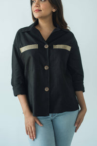 MENDES CEYLON -Smart Shirt with Lepel Black
