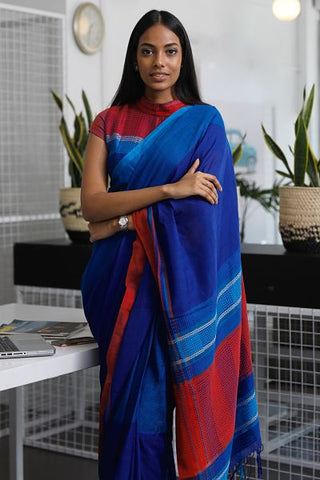 Urban Drape Tropical Teal Saree