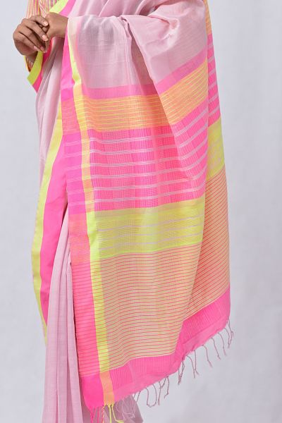 Urban Drape Blush Pink Sky Saree