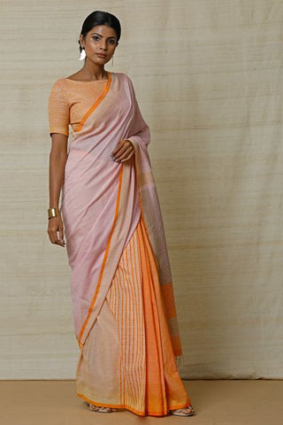Urban Drape Butter Cream Saree