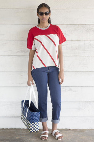 Nautical T-shirt- red stripe