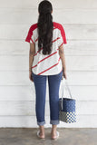 House of Lonali Nautical T-shirt - Red Stripe