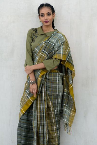 Urban Drape Camo Seal Saree - Fashion Market.LK