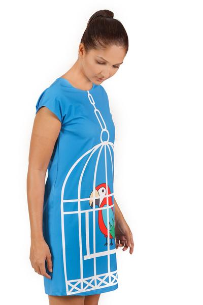 Charlene Shift dress in bird cage print - Fashion Market.LK