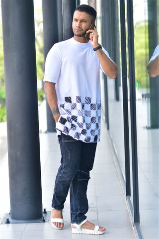 Chess High Neck Tee
