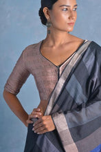 Load image into Gallery viewer, Urban Drape Coal Saree