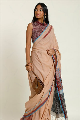Urban Drape Cream Shadows Saree