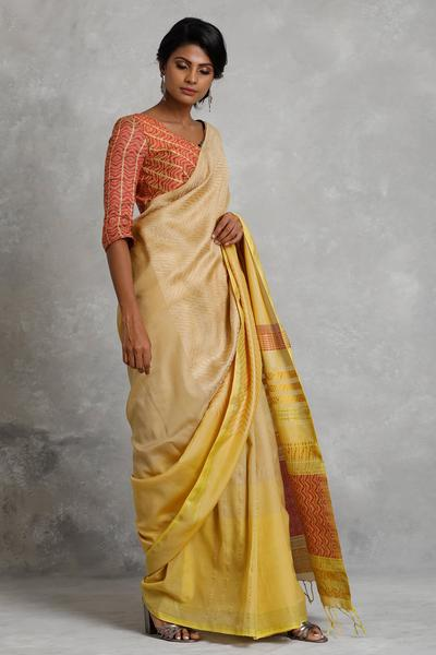 Urban Drape  Crimson Vine Saree